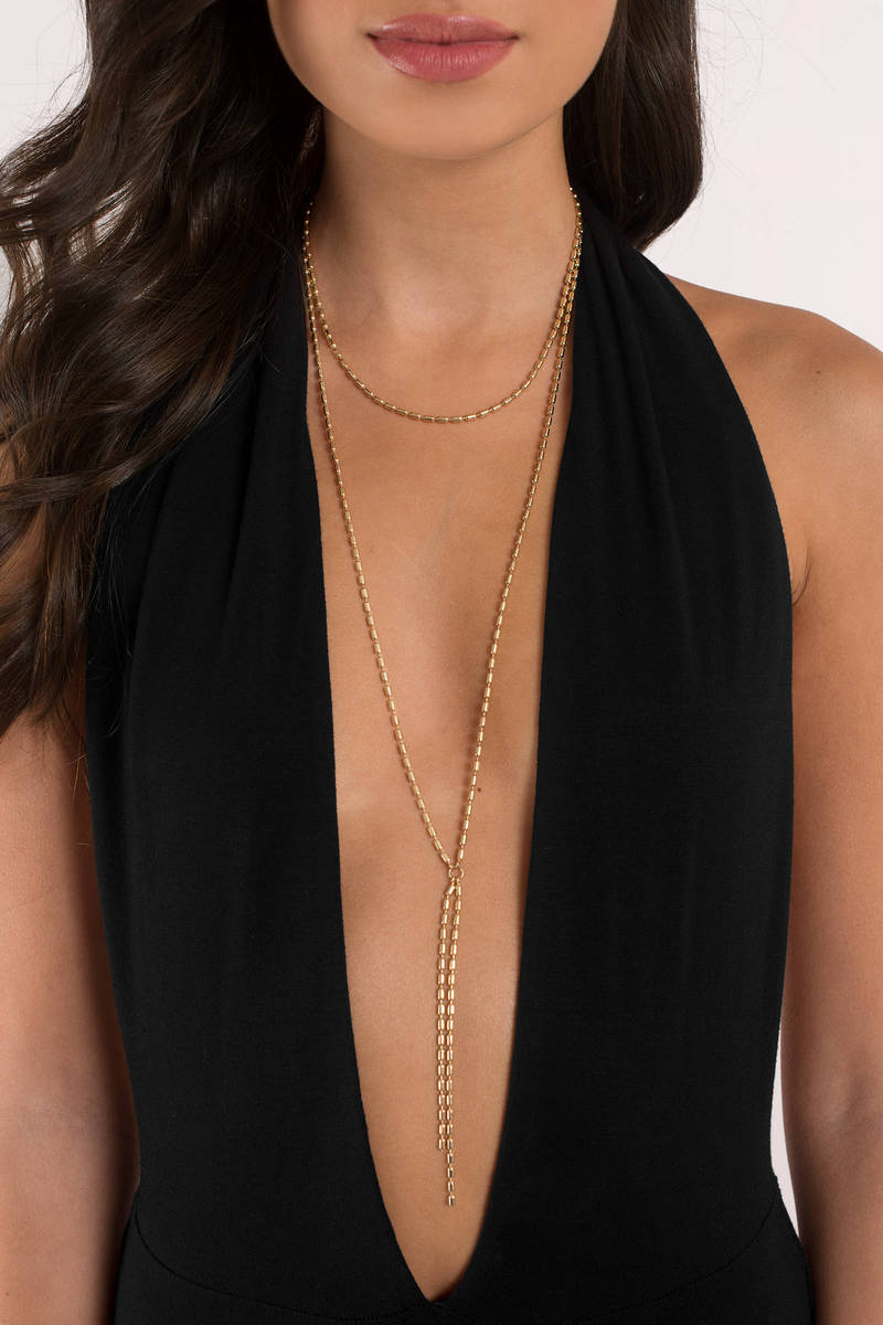 Drizzy Gold Layered Necklace