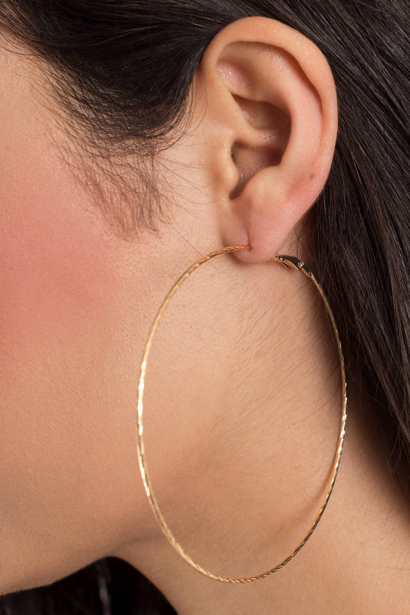 Drop It Like It's Hot Gold Hoop Earrings