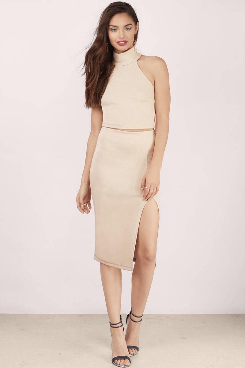 Electra Gold Midi Dress
