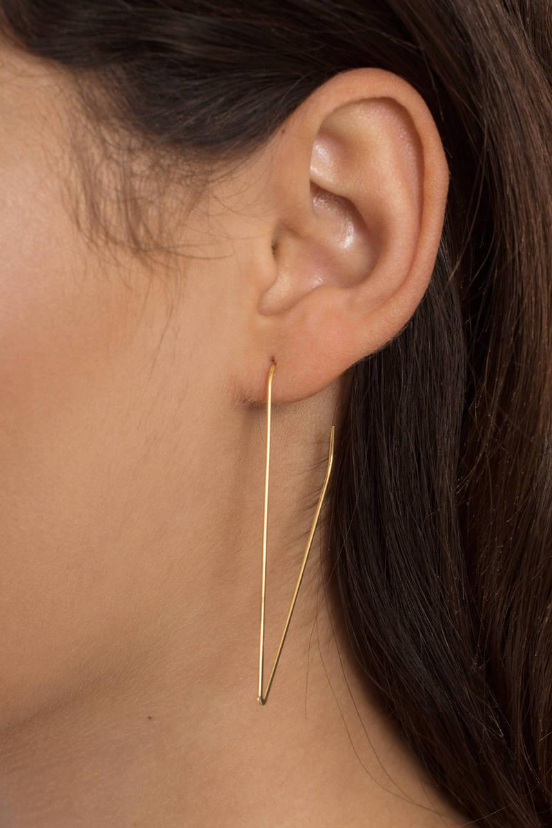 fe3224749 Eternity Gold Geometric Hoop Earrings - £5 | Tobi GB