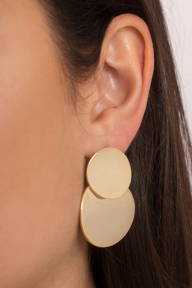 Going In Circles Gold Earrings