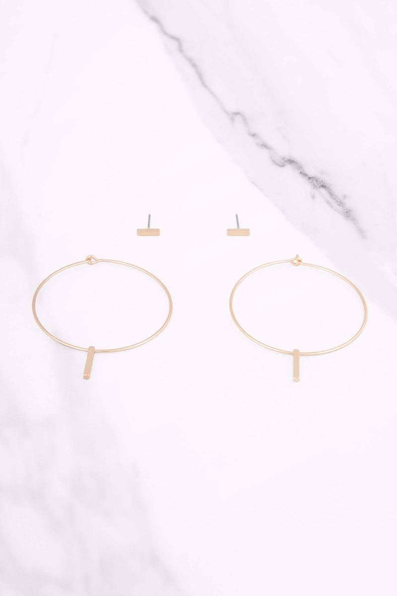 Hoops I Did It Again Gold Hoop Earrings