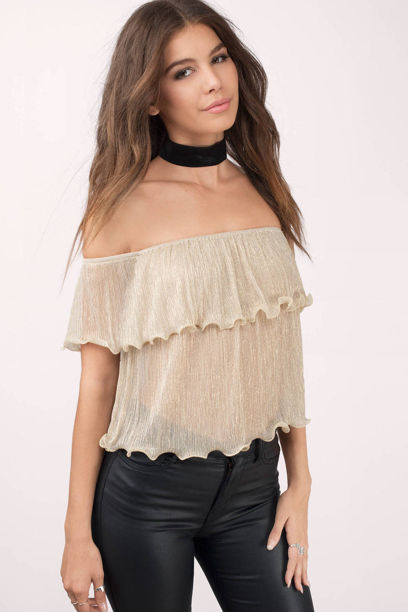 Indie Gold Crop Top