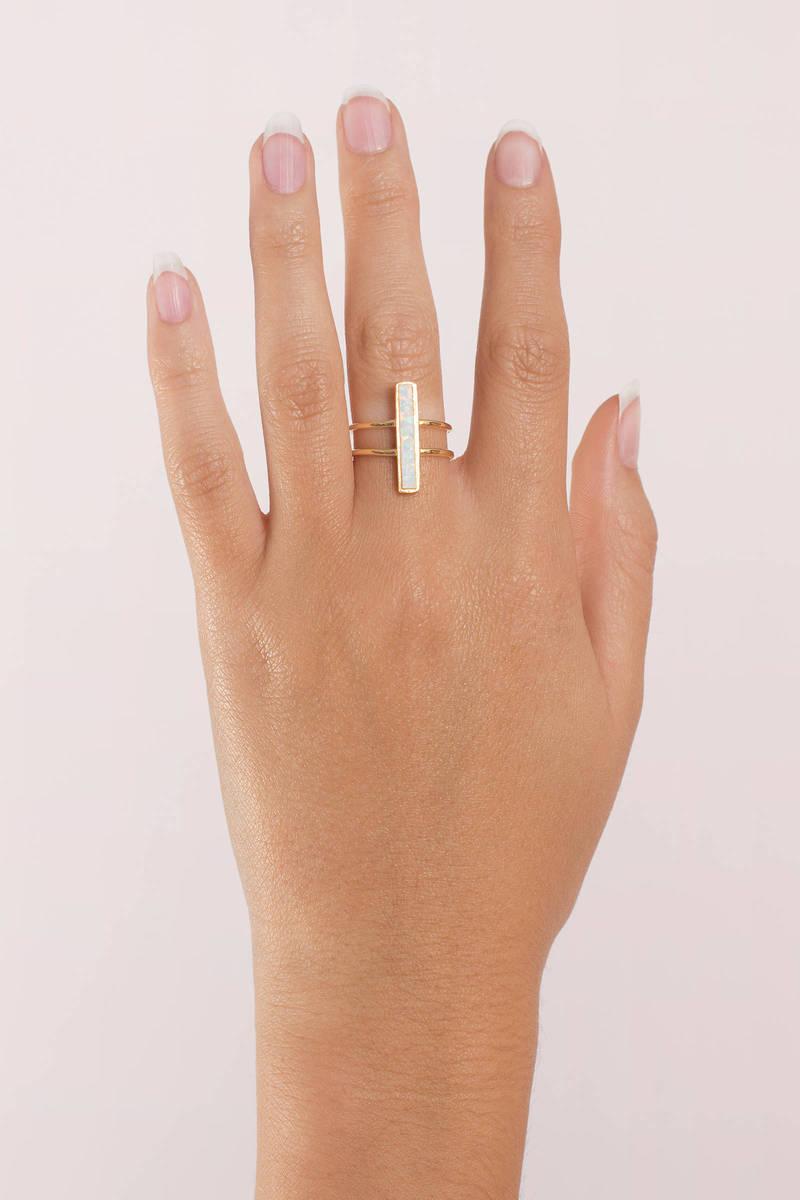 Laguna Beach Gold Opal Ring