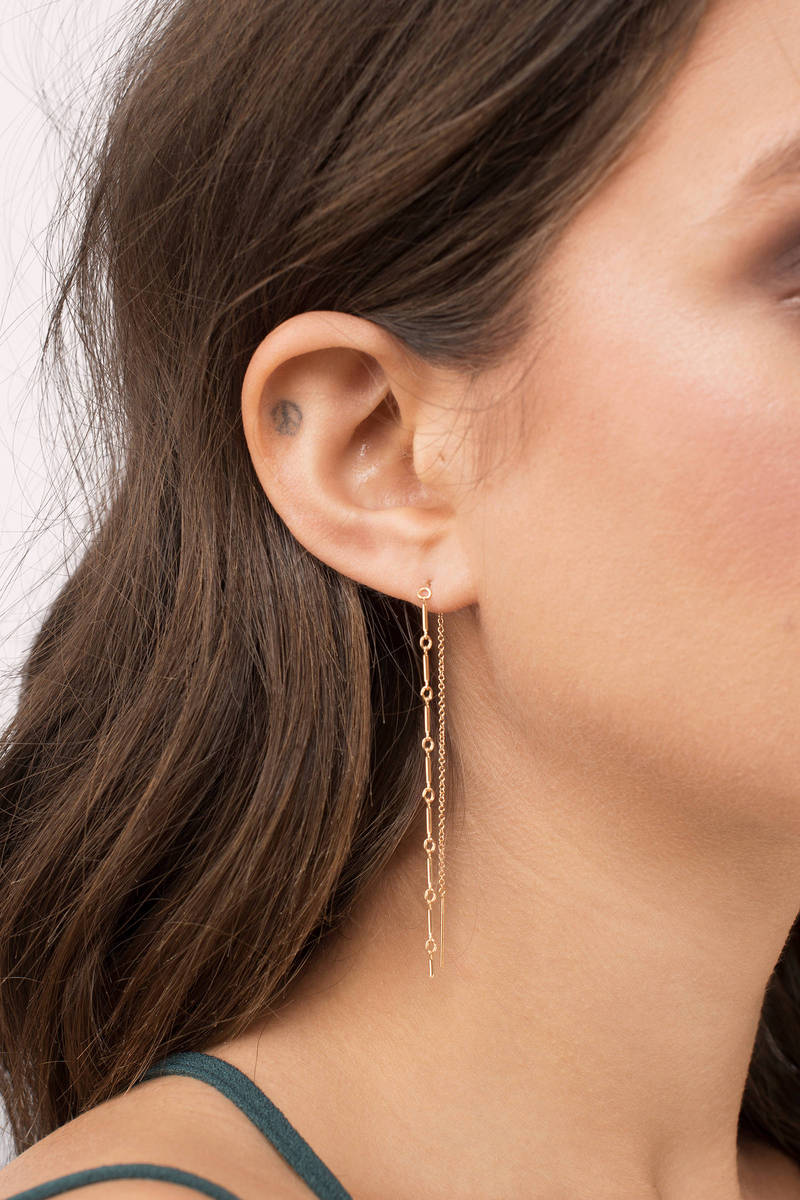 Amarilo Amarilo Lexie Gold Drop Earrings
