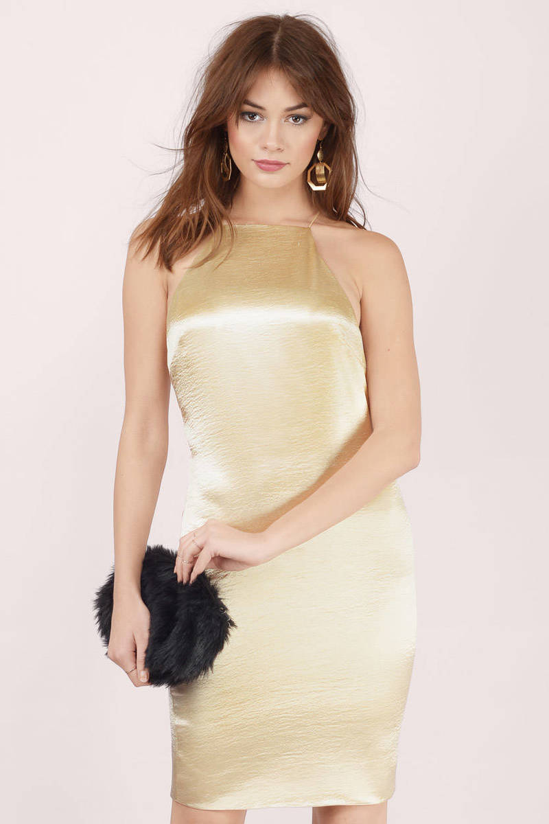 Light Up The Night Plum Satin Bodycon Dress
