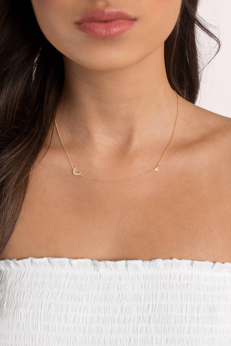 Love You To The Moon Gold Necklace