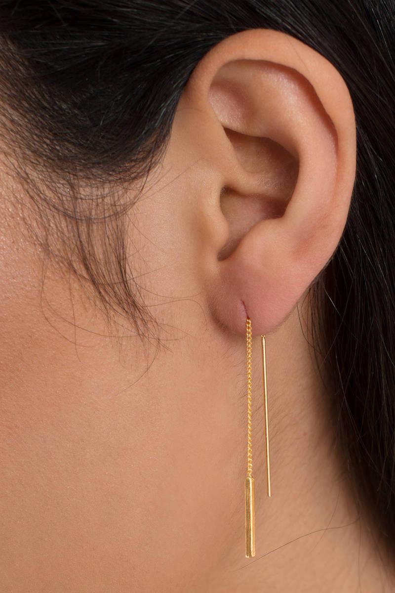 Midas Touch Gold Drop Earrings