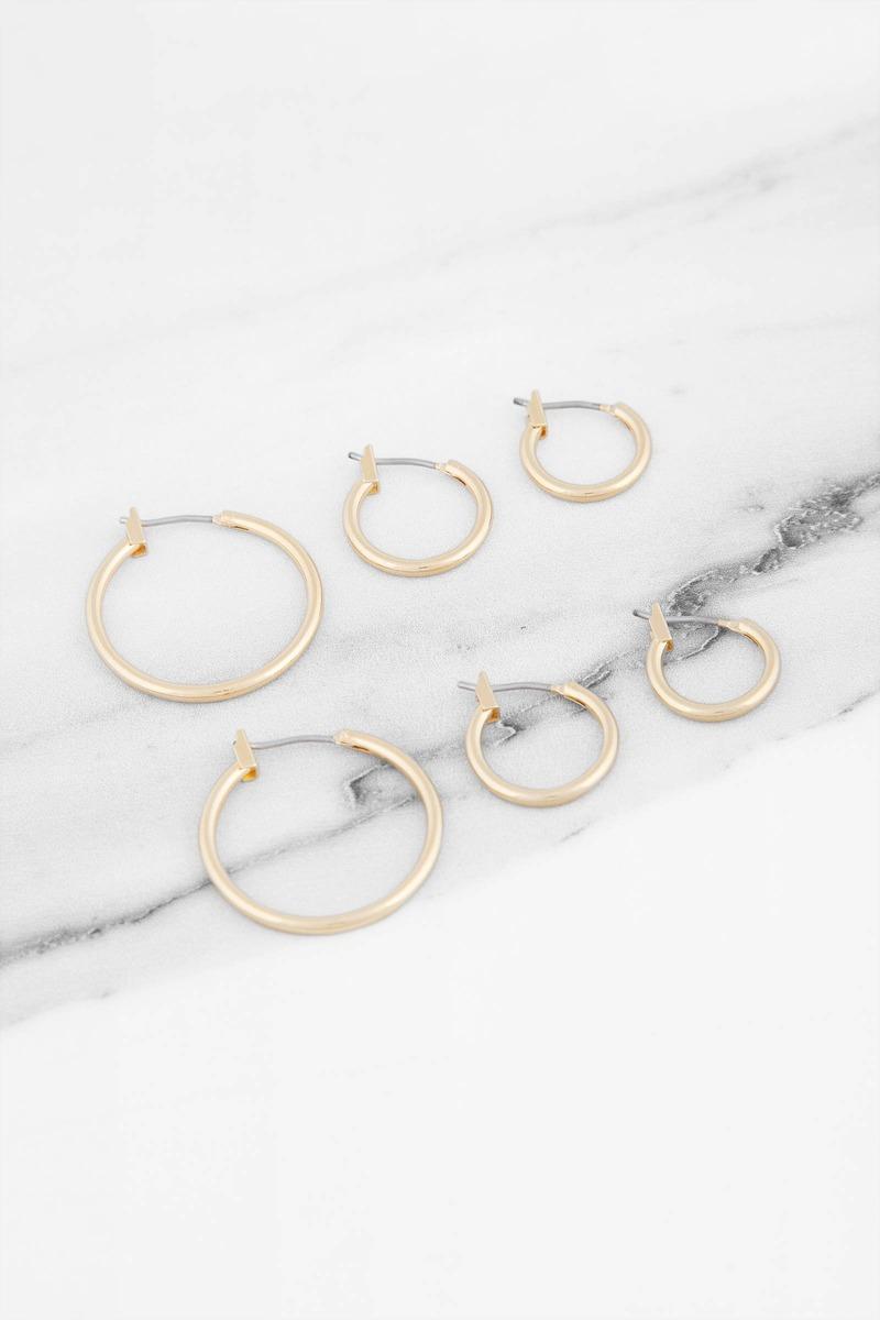 Vanessa Mooney Vanessa Mooney Mirage Gold Hoop Earring Set