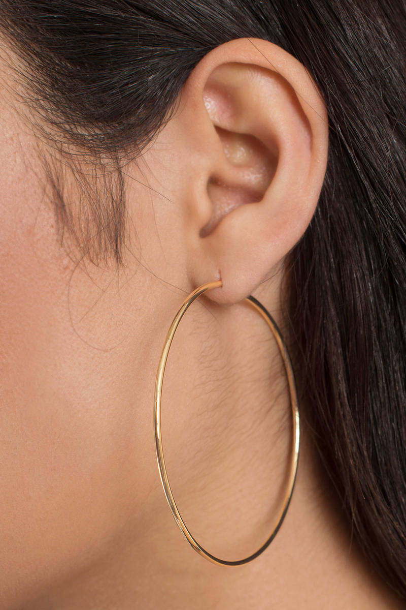 Nicole Gold Hoop Earrings