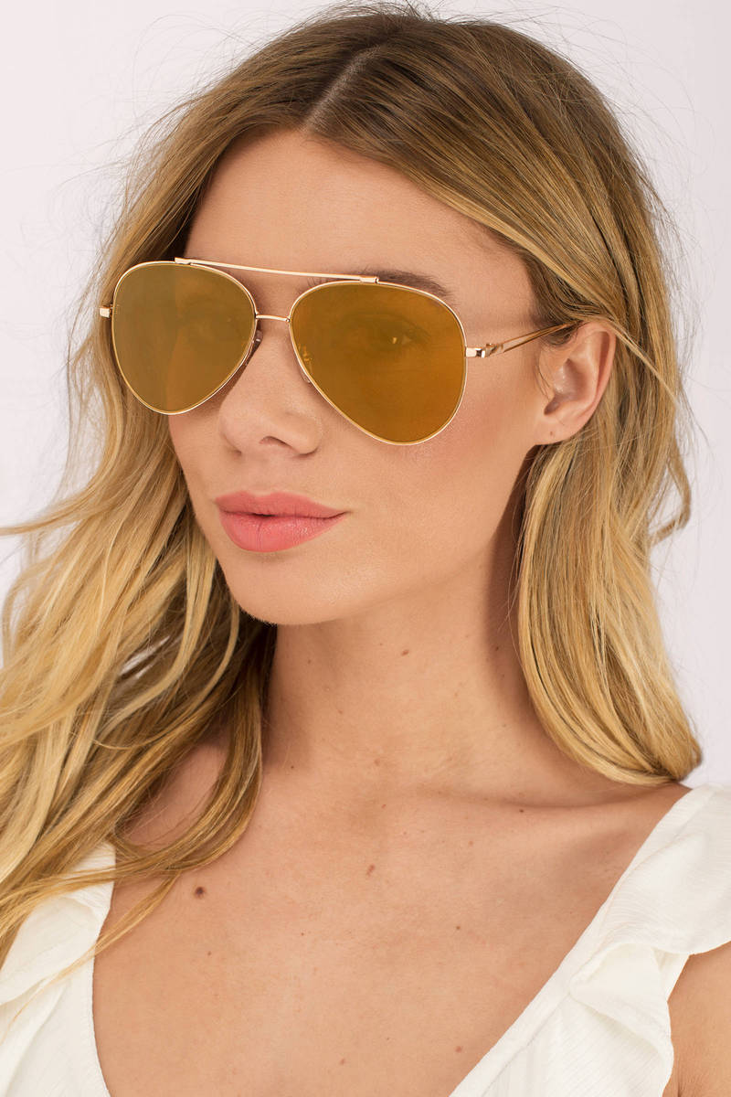 Quay - Gold Mirrored Sunglasses - Gold Aviators - Quay Aviators -  5 ... db536a6ea7c