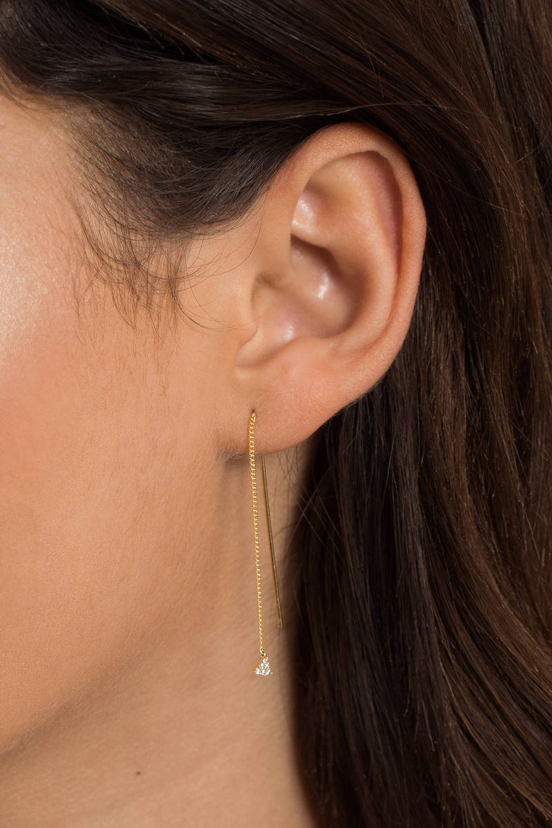 One Chance Gold Earrings