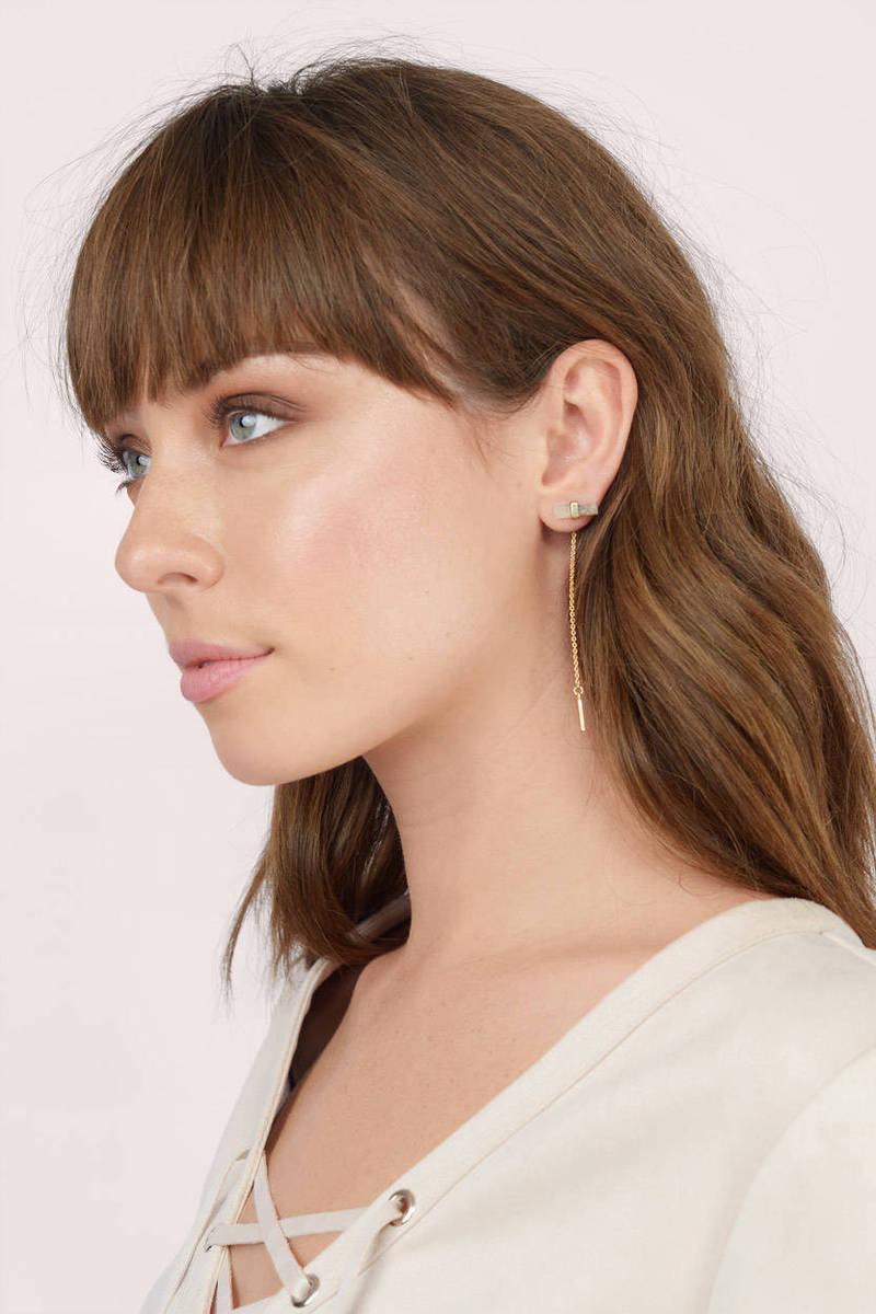 Rolling Stone Dangle Earrings
