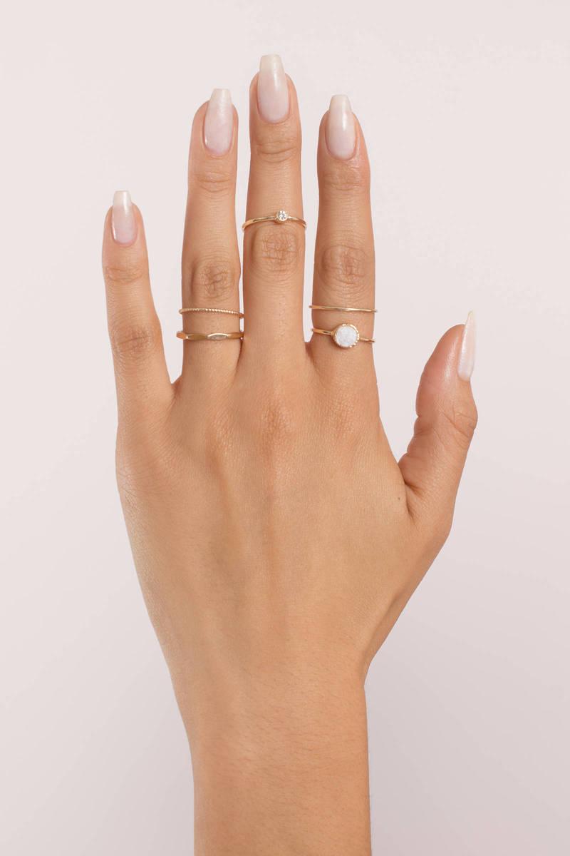 Saint-Tropez Gold Ring Set