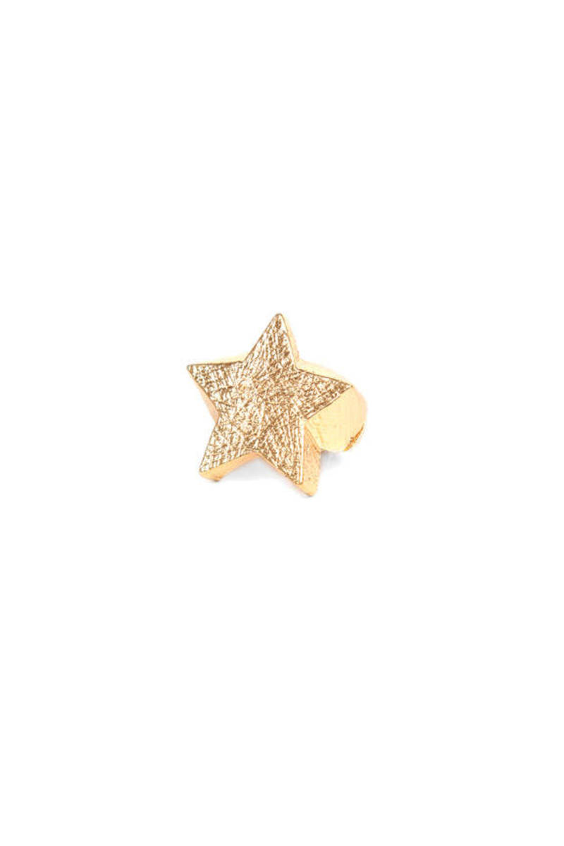 Scratched Star Ring