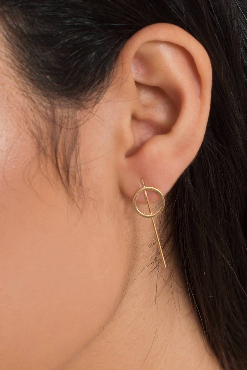See Through Me Gold Stud Earrings