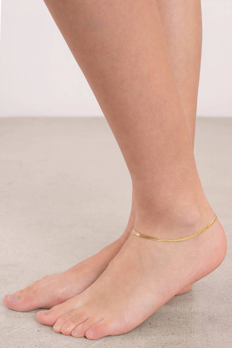 Chain Anklet Foot Bracelet Foot Chain Jewelry Gold Foot