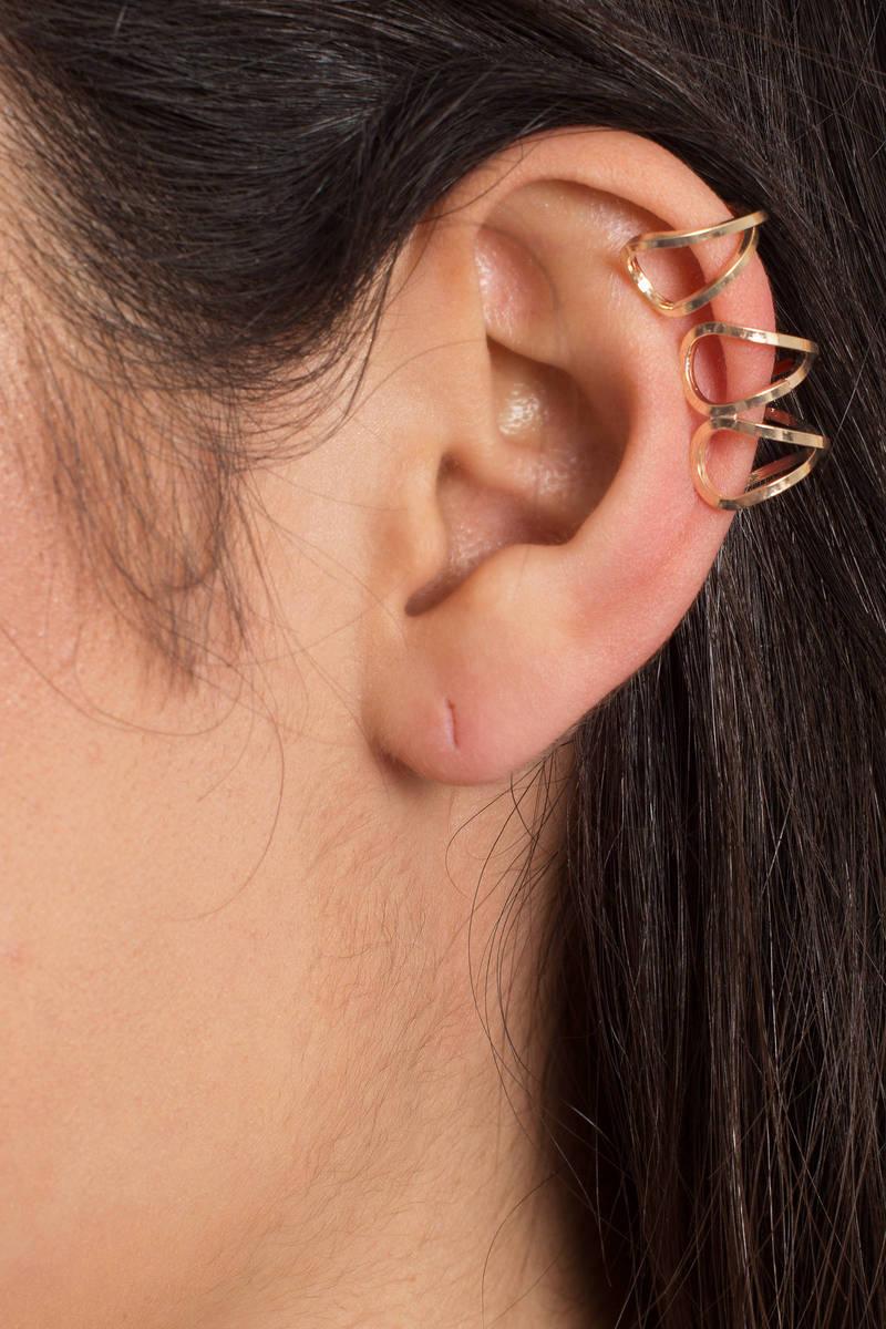 Sierra Gold Stacked Ear Cuff