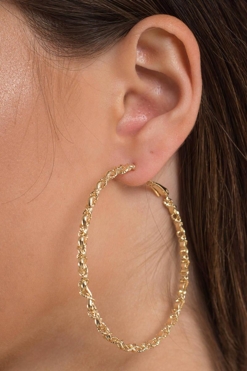 So Long Gold Hoop Earrings