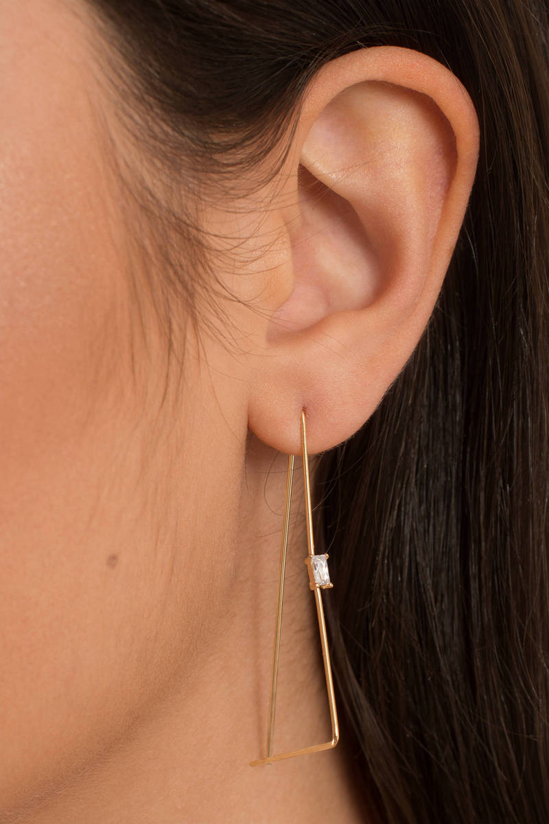Sparkle More Gold Dangle Earrings