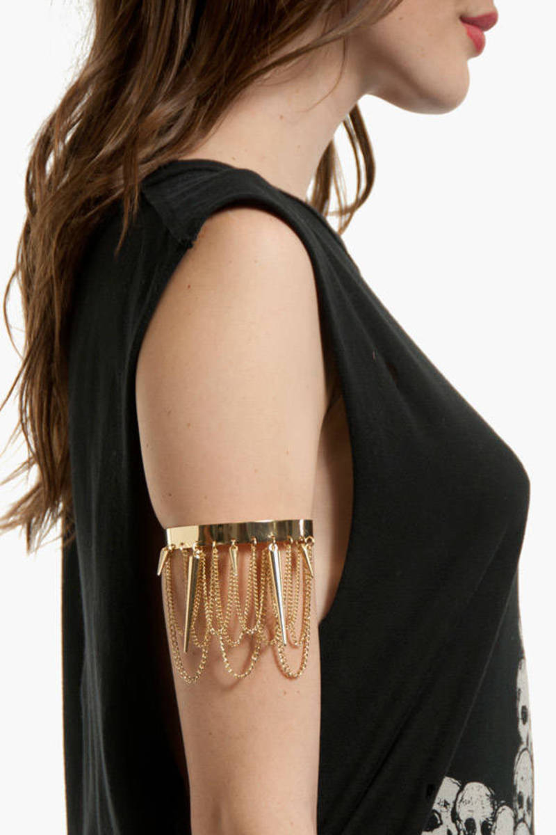 Spike and Chain Arm Cuff