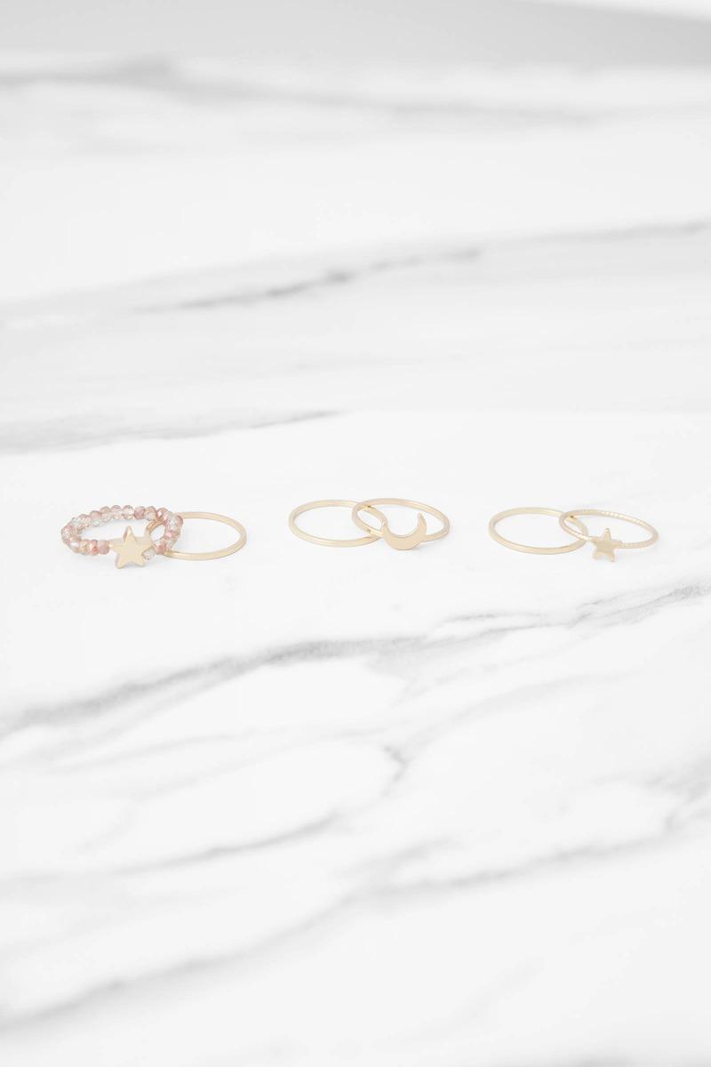 Star Bright Gold Ring Set