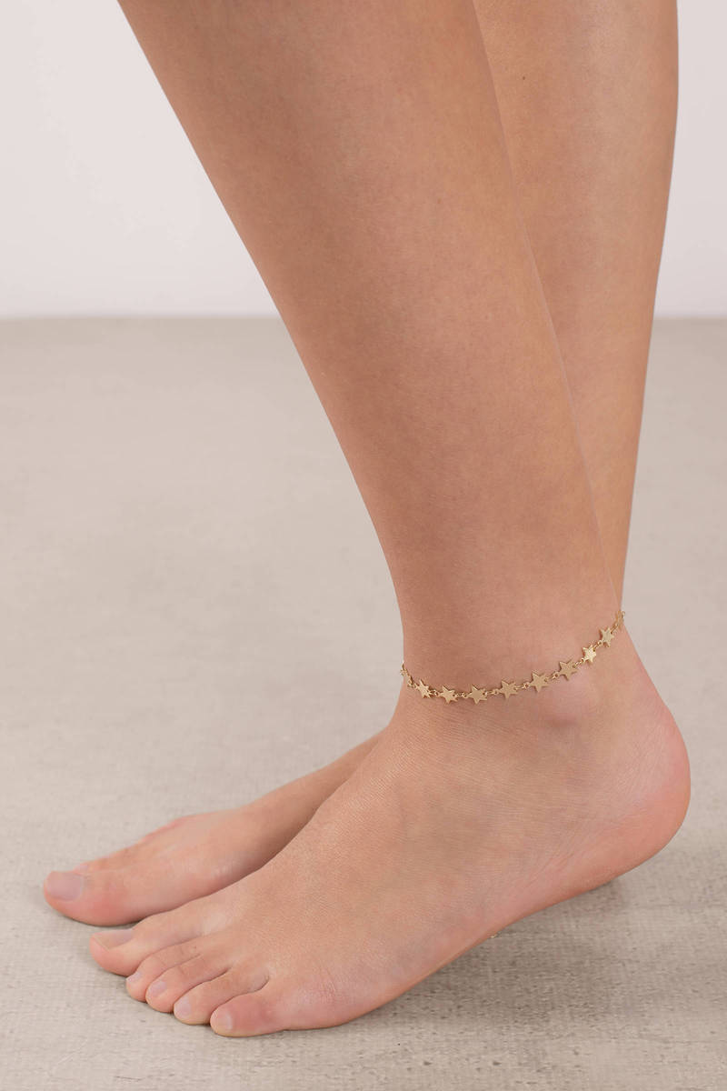 Star Silver Player Anklet