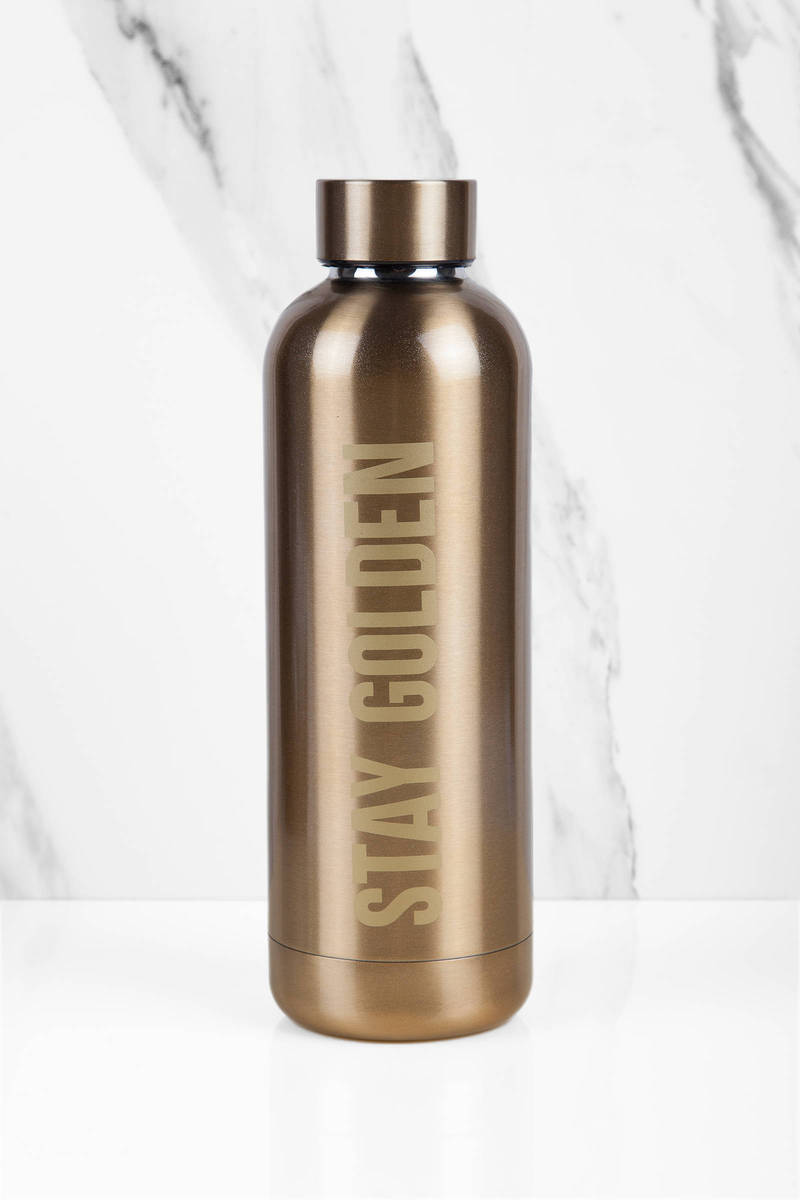 Midway Mytagalongs Stay Golden Gold Insulated Water Bottle