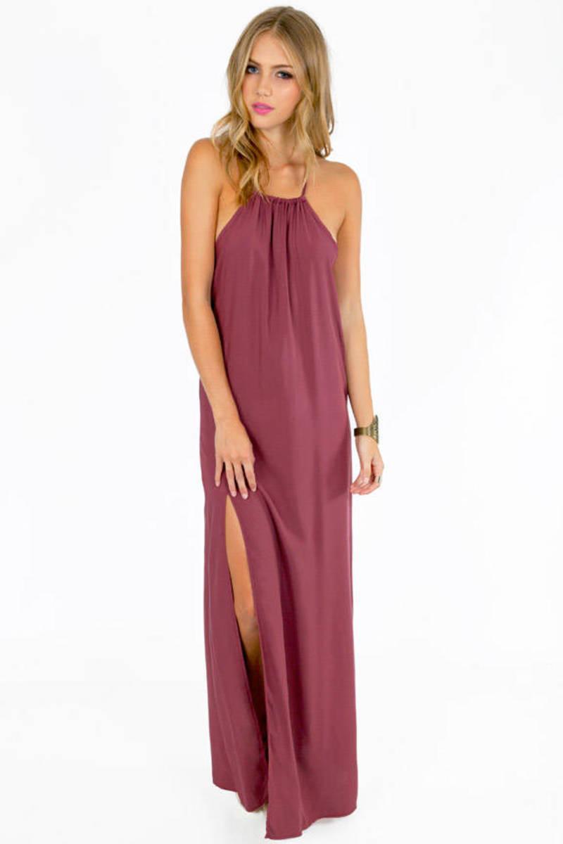 Slit Second Maxi Dress