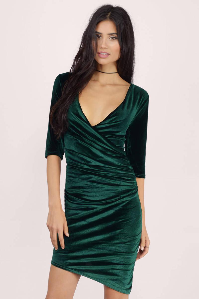 All Wrapped Up Velvet Bodycon Dress