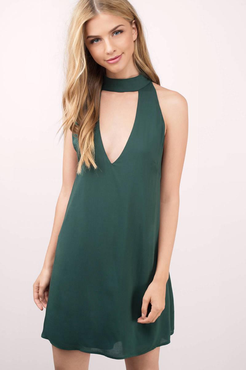Dancing Night Green Shift Dress