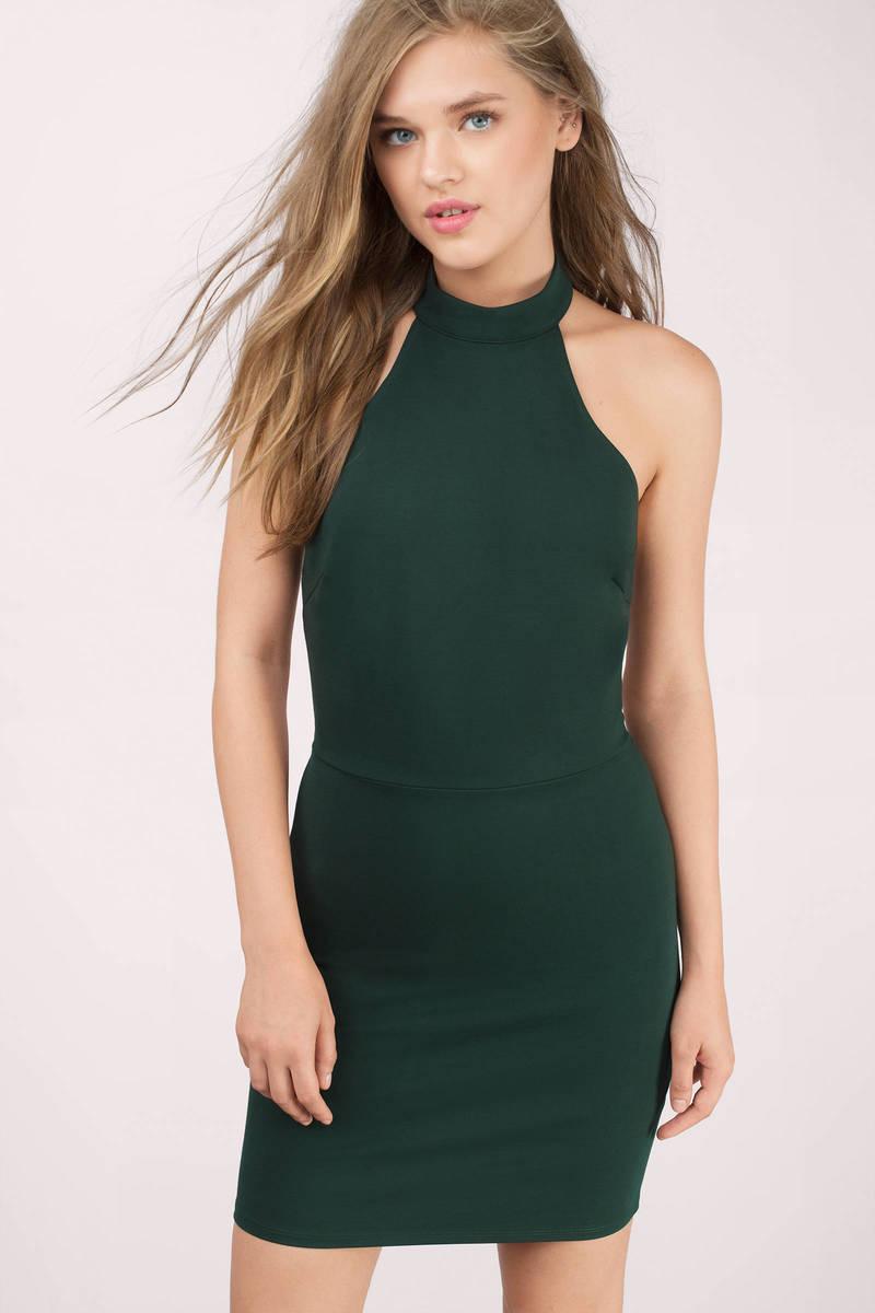 Keep Calling Halter A Line Dress