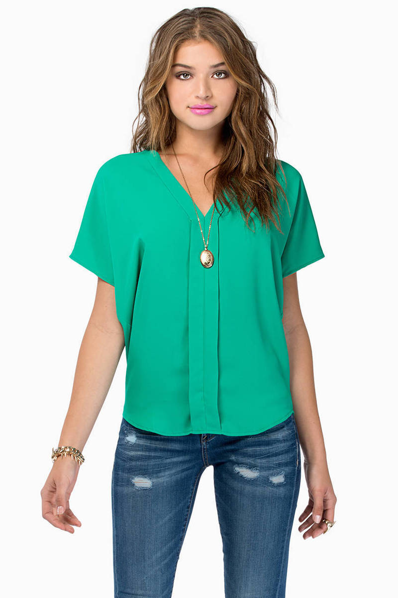 Liddle Iddle Green Blouse
