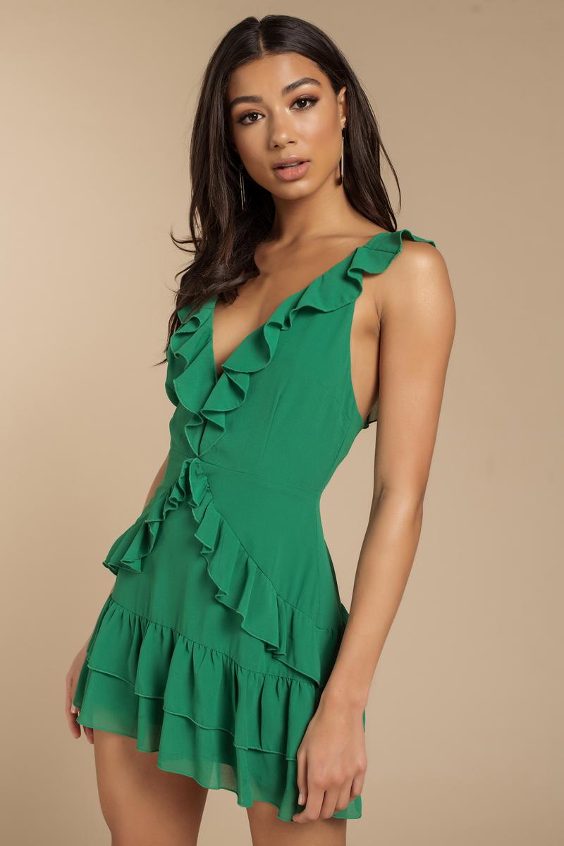 Green Ruffle Dress