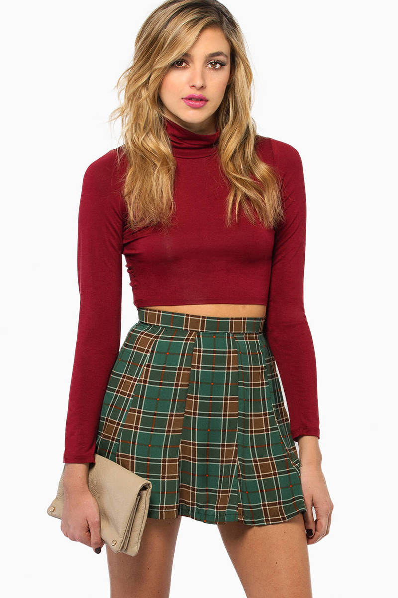 Rita Plaid Skirt