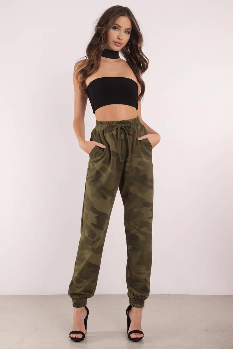 Show Off Green Sweatpants