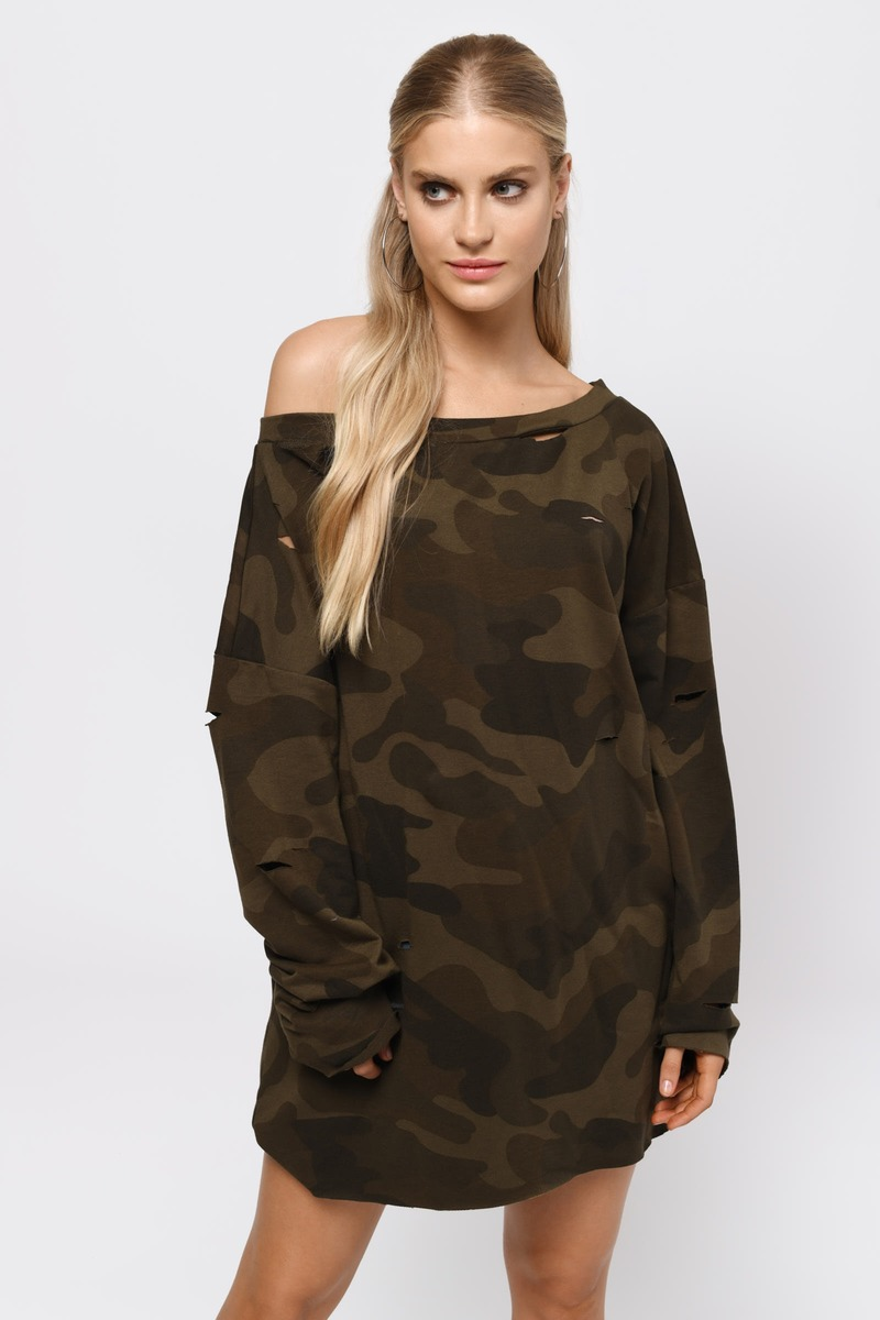 Sleeve It To Me Green Shift Dress