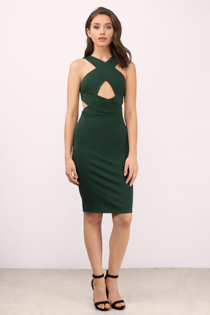 Stars Align Green Midi Dress