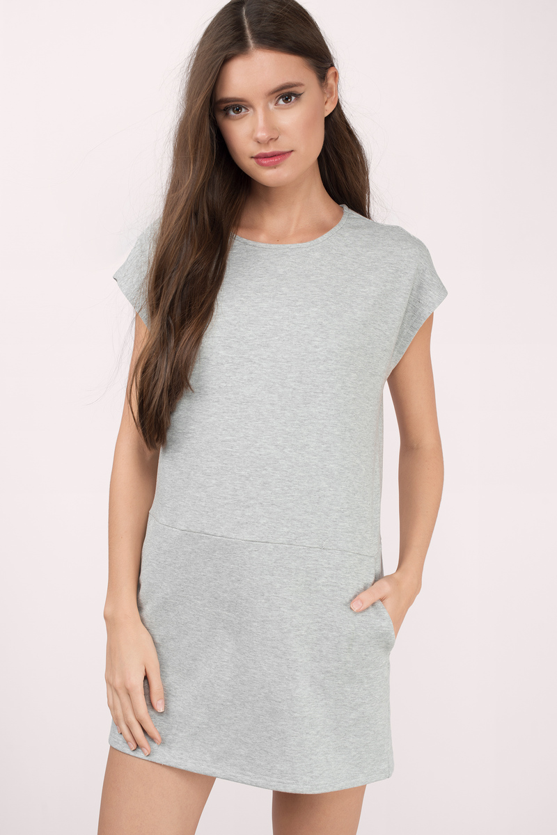 d55593345777 Cute Grey Shift Dress - Dress - Grey Dress - Shift Dress -  14