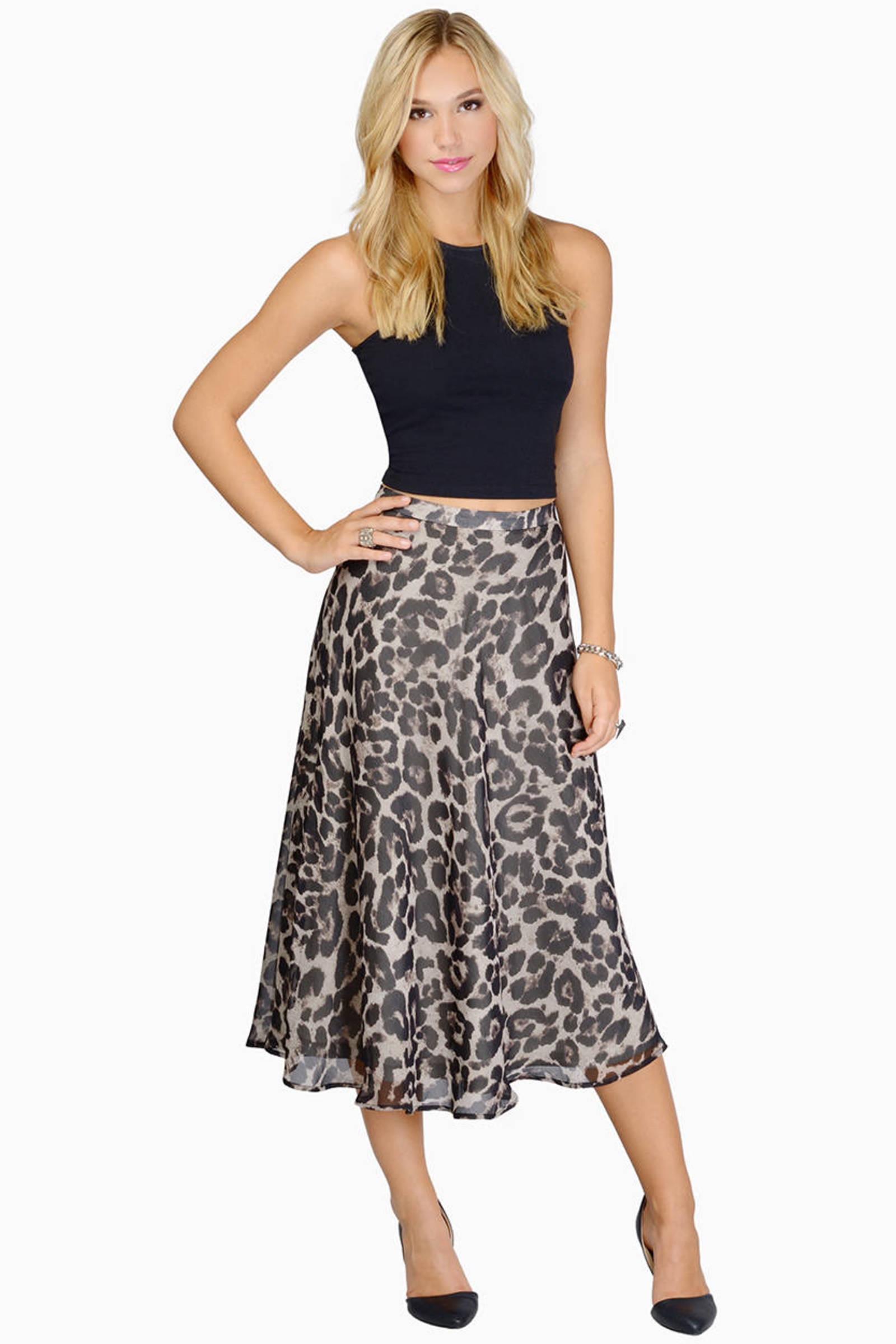 Black modern dress - Modern Day Toast Black Paneled Midi Skirt