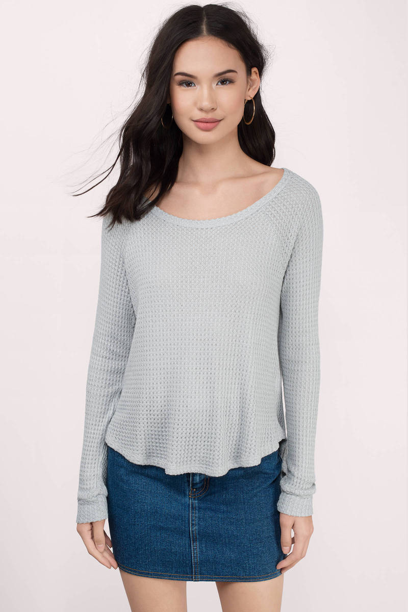 Brittany Grey Knitted Shirt