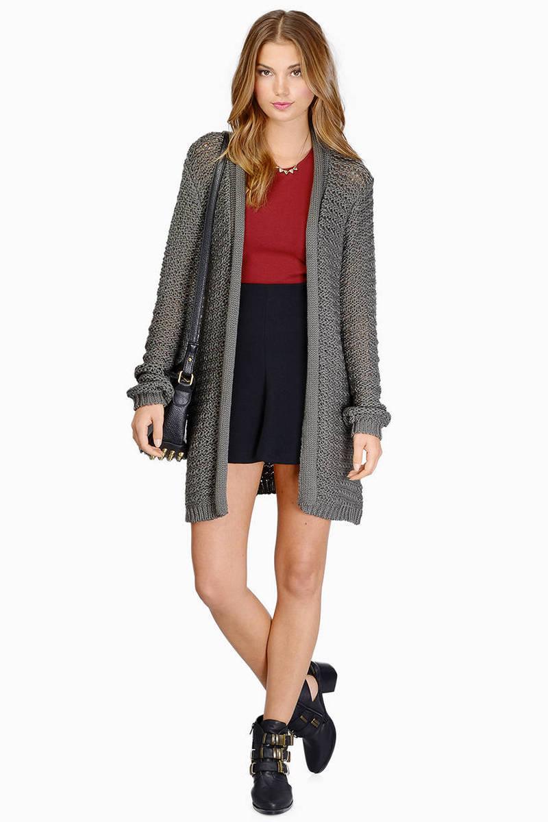Knit Down Grey Cardigan