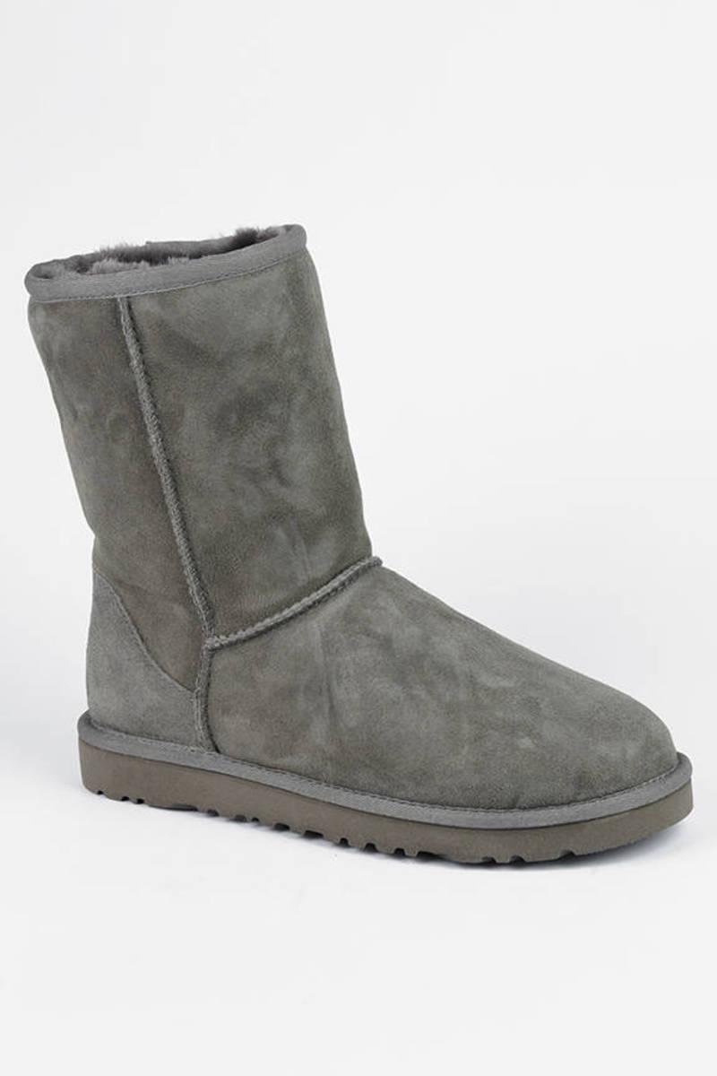 UGG Grey Classic Short Sheepskin Boots
