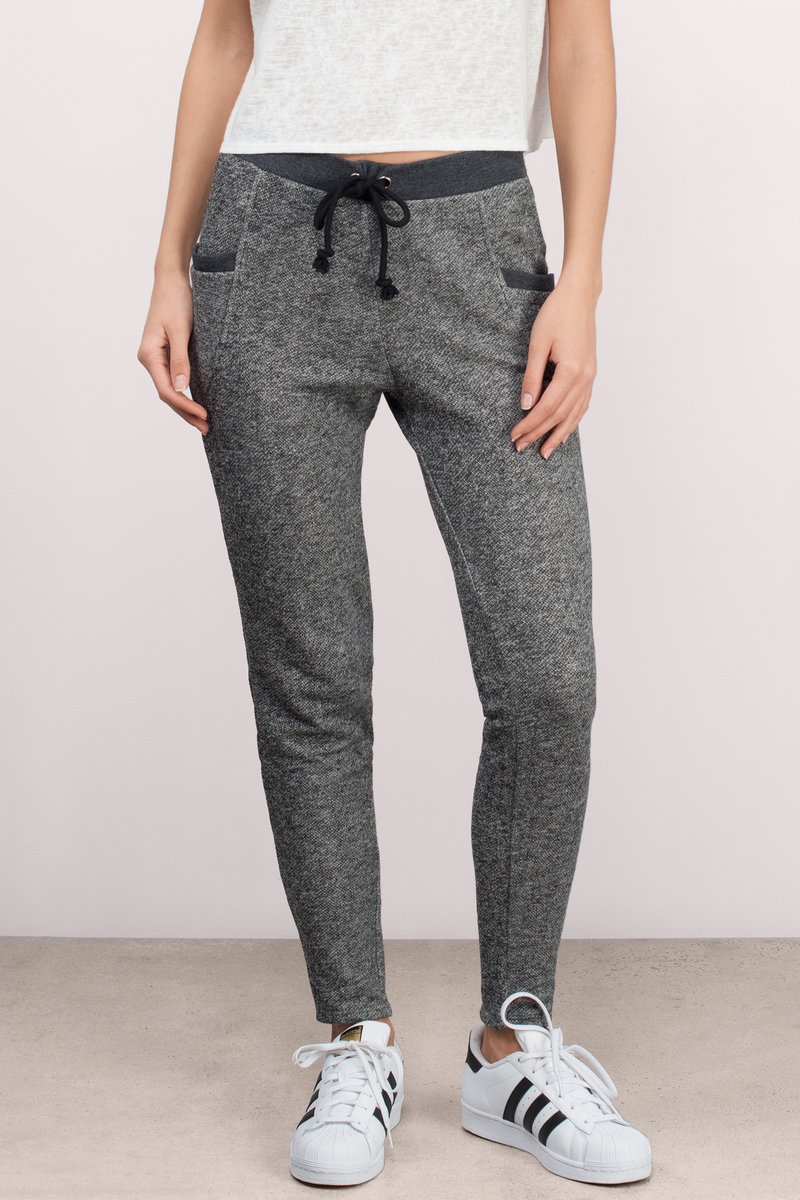 Coffee Run Heather Grey Sweat Pants