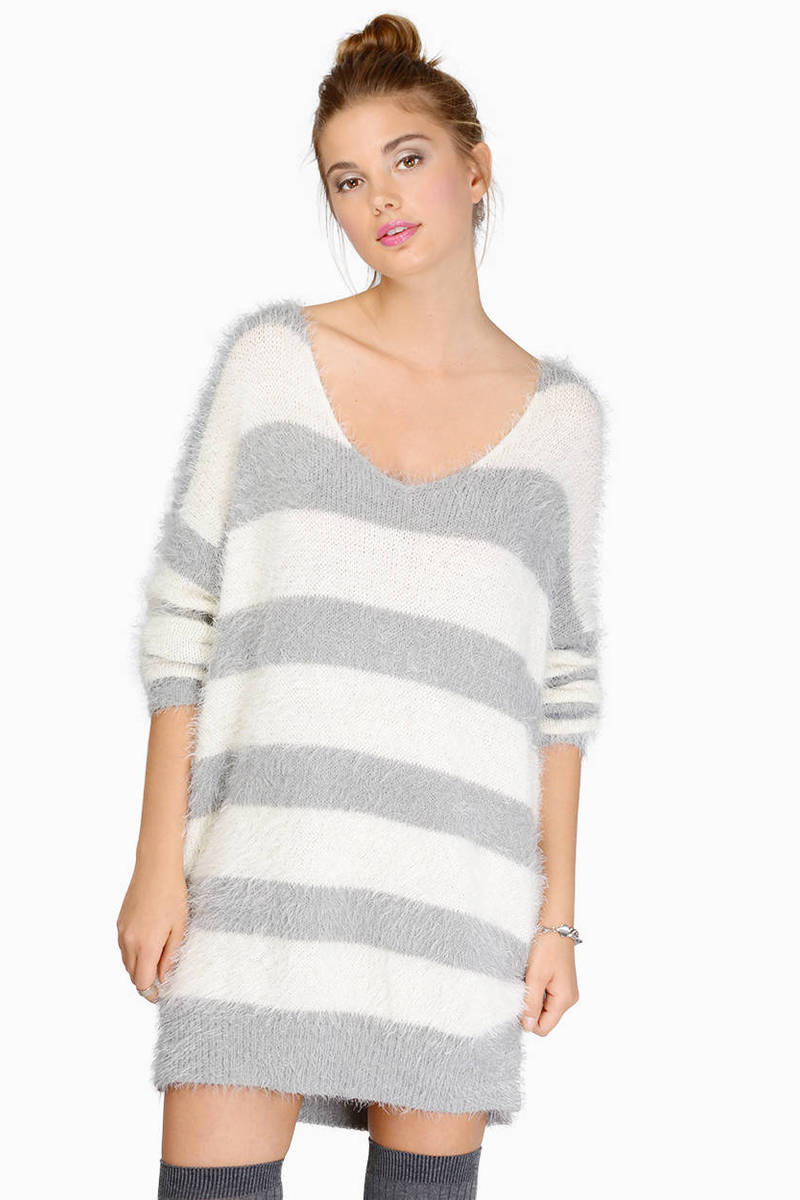 Black & White Sweater - Stripped Sweater - A Line Sweater - $16.00