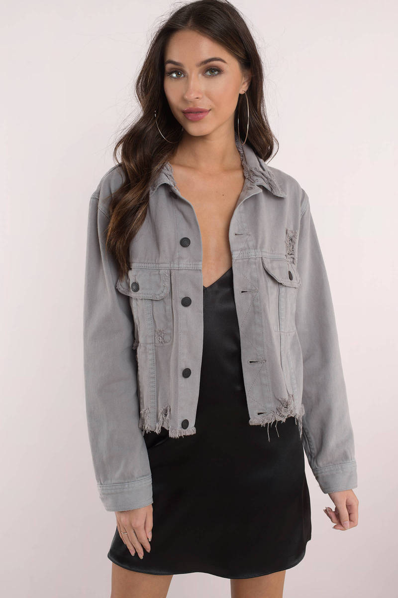 terrific value great discount sale diversified latest designs Day & Night Distressed Cropped Denim Jacket