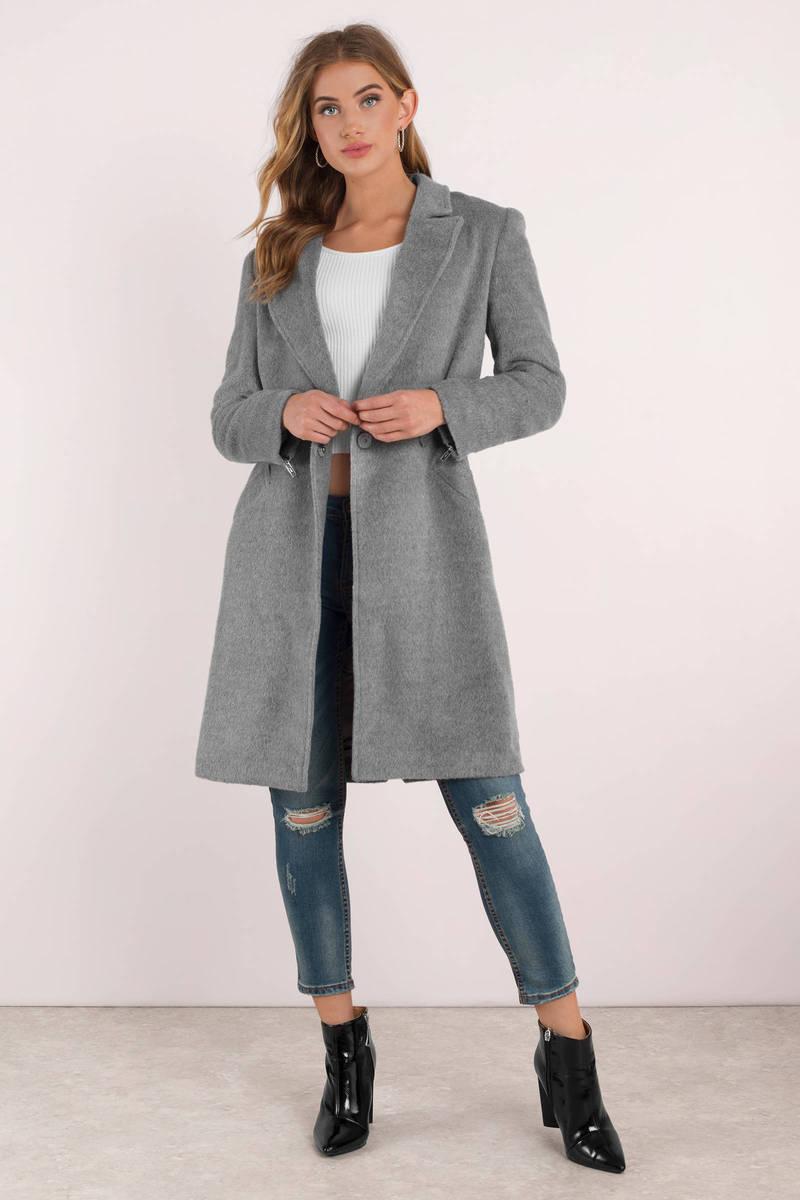 MINKPINK Minkpink Fearless Grey Wool Coat