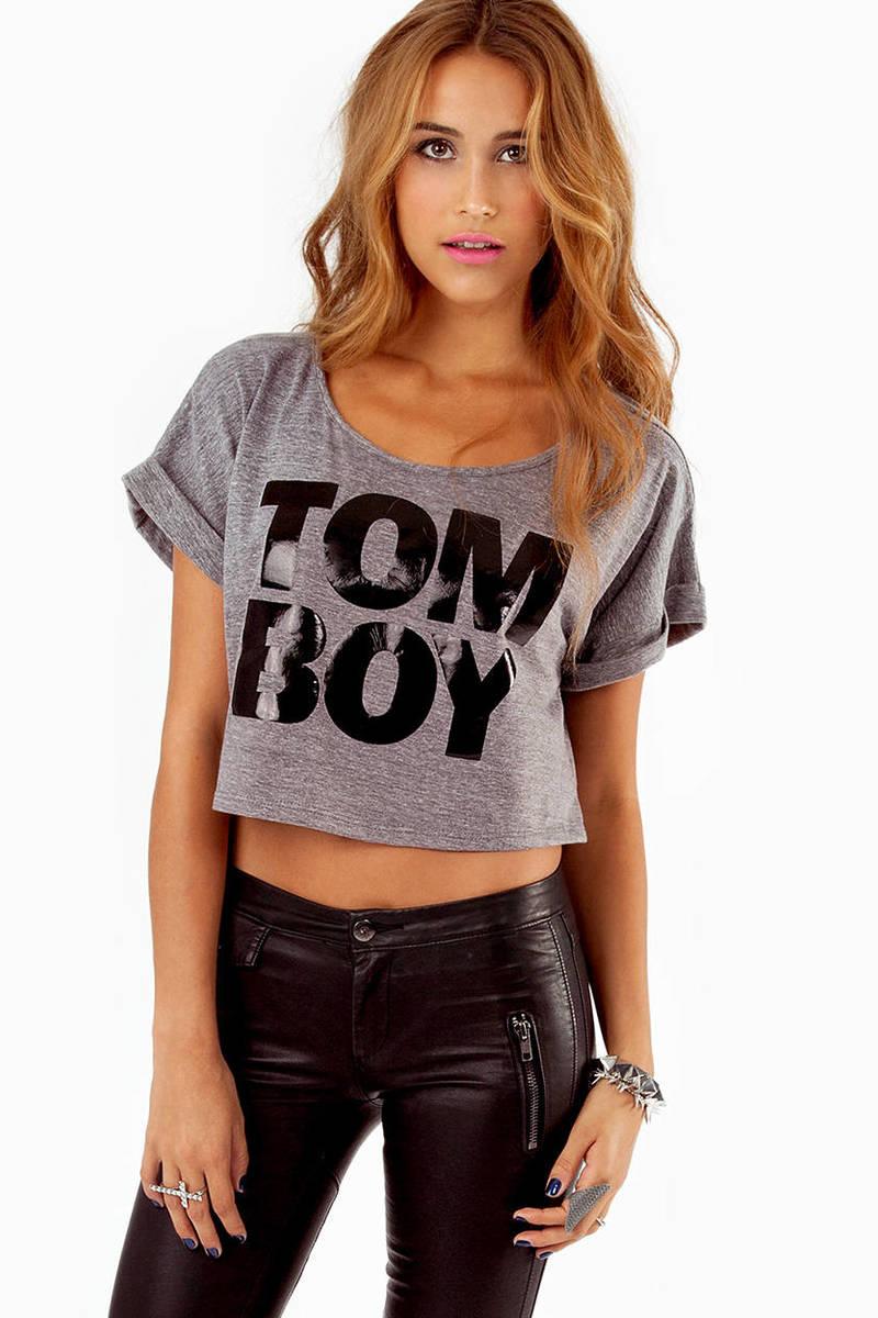Feeling Tomboy Crop Top