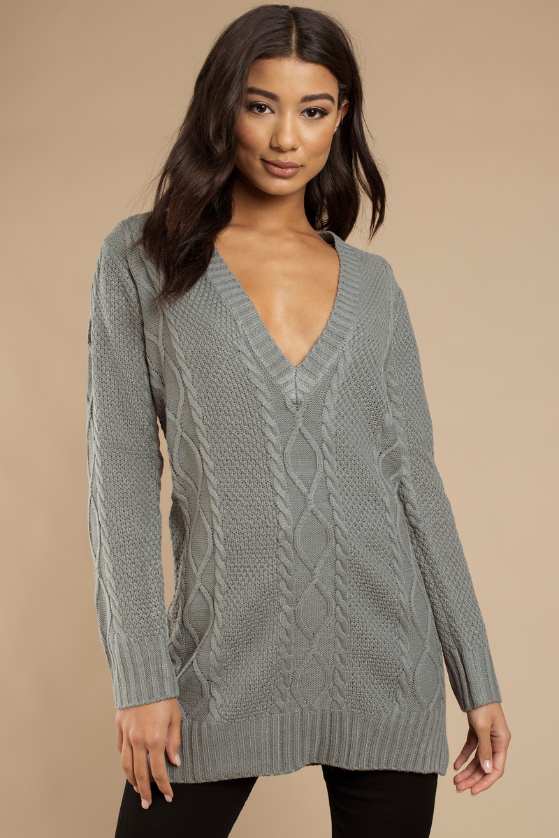 Grey Dress - Sweater Dress - Long Sweater - Day Dress - $22 | Tobi US