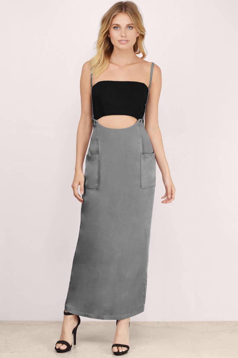Trendy Grey Skirt - Grey Skirt - Overall Skirt - $12.00